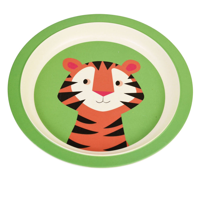 Kids Bamboo Plate - Teddy The Tiger plates BambooBeautiful