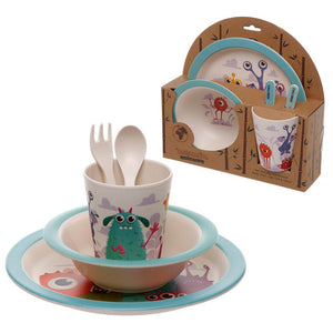 Monsters Bamboo Fibre Kids Dinnerware Set Dinnerware Set BambooBeautiful
