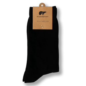 Slopes and Town Bamboo Socks - Classic Black BambooBeautiful Ltd