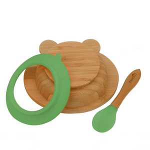 The Bambol - Kids Bamboo Bowl with Suction Ring and Spoon BambooBeautiful Ltd