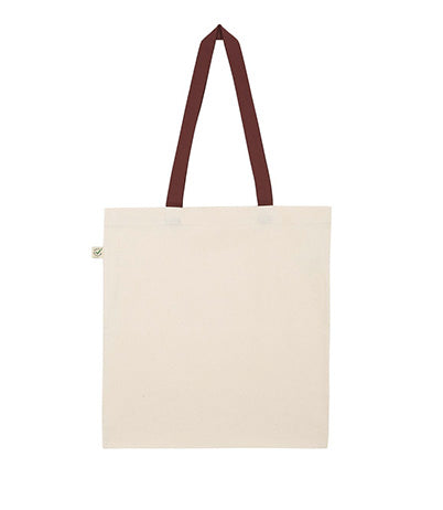 Shopping bag bicolore en coton bio EP71