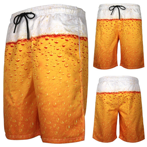Beach Shorts Men 3D Beer