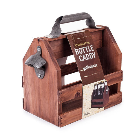 my-beer-life -  - Wooden Beer Bottle Holder