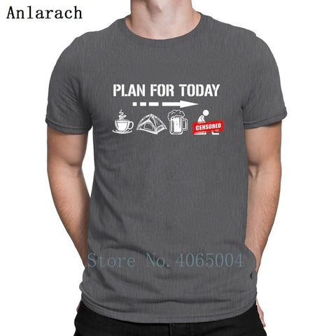 Plan For Today 'COFFEE, CAMPING' T Shirt