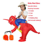 Dinosaur Costumes T REX Blow Up Fancy Dress Mascot