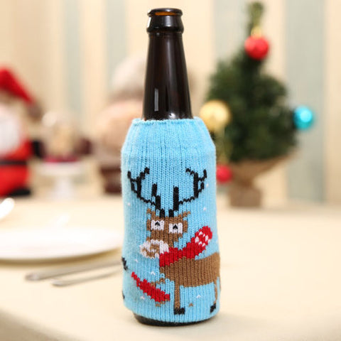 Christmas Beer Cover Xmas Table Decors
