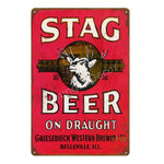 my-beer-life - Tin - Drinking Beer Metal Signs