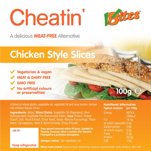 V-Bites Cheatin' Meat-free Chicken Slices 100g