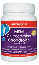 NutraLife Glucosamine Joint Food with MSM 1kg Lemon