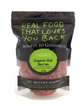 Honest to Goodness Organic Goji Berries 200g