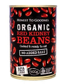 Honest to Goodness Organic Red Kidney Beans 400g