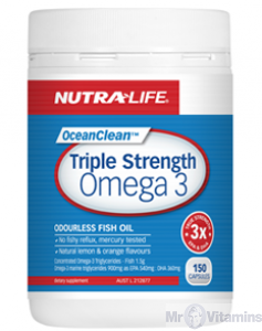NutraLife Ocean Clean Omega 3 Fish Oil Triple Strength 150c