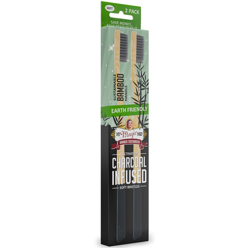 My Magic Mud Bamboo Charcoal Toothbrush 2 Pack