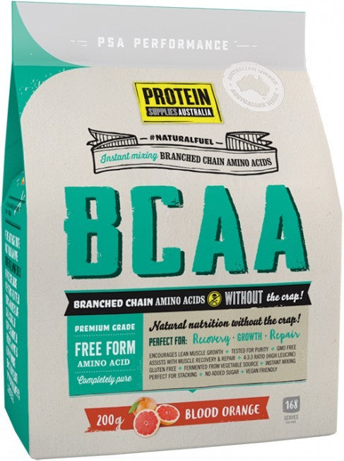 Protein Supplies Australia BCAA Blood Orange 200g