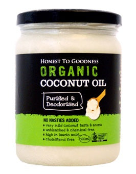 Honest to Goodness Organic Purified & Deodorised Coconut Oil 500g