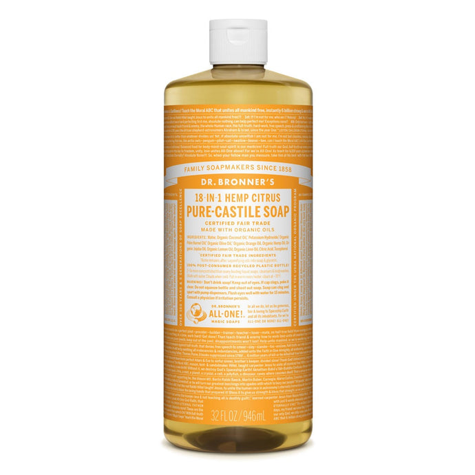 Dr Bronners Liquid Castile Soap Citrus 946ml