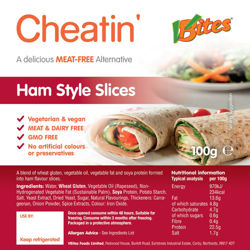 V-Bites Cheatin' Meat-free Ham Slices 100g