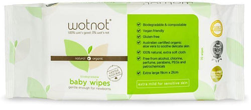 Wotnot Biodegradable Baby Wipes 70pk