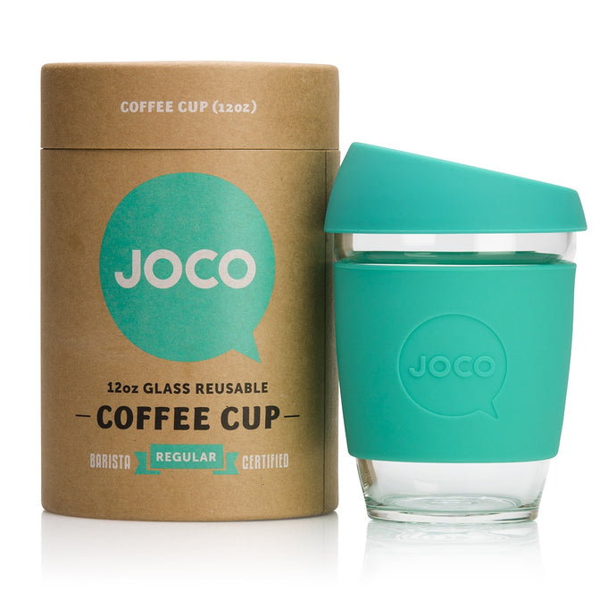 Joco Reusable Glass Coffee Cup Regular Mint