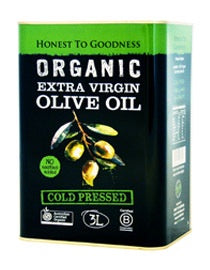 Honest to Goodness Organic Extra Virgin Olive Oil 3L