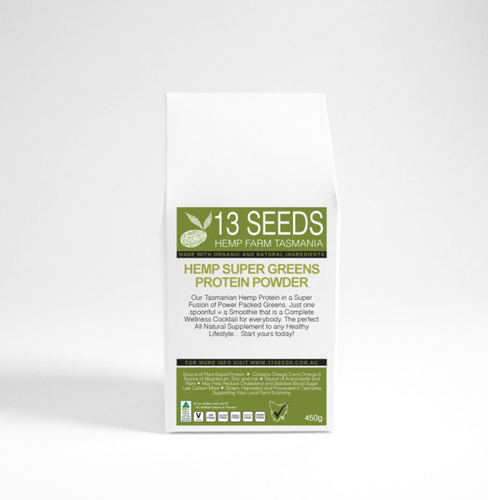 13 Seeds Hemp Super Greens Protein Powder