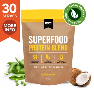 180 Nutrition Vegan Superfood Protein Coconut 1.2kg