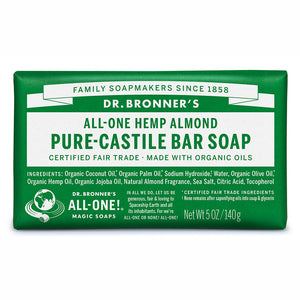 Dr Bronners Castile Bar Soap Almond 140g