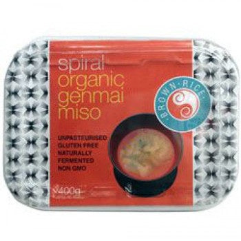 Spiral Foods Org Unpasteurized Miso Brown Rice 400g
