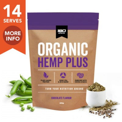 180 Nutrition Organic Hemp Plus Chocolate 480g