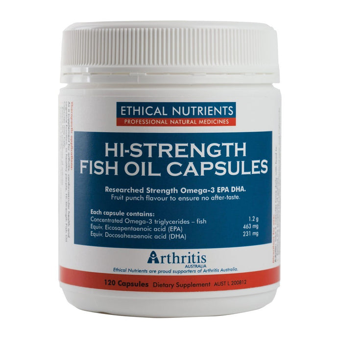 Ethical Nutrients Hi-Strength Fish Oil 120 C