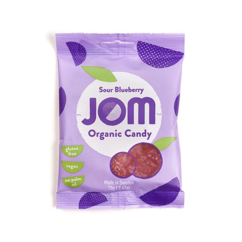 JOM Organic Candy Sour Blueberry 70g