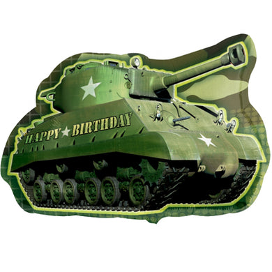 Camouflage Army Tank Foil Happy Birthday Balloon 26