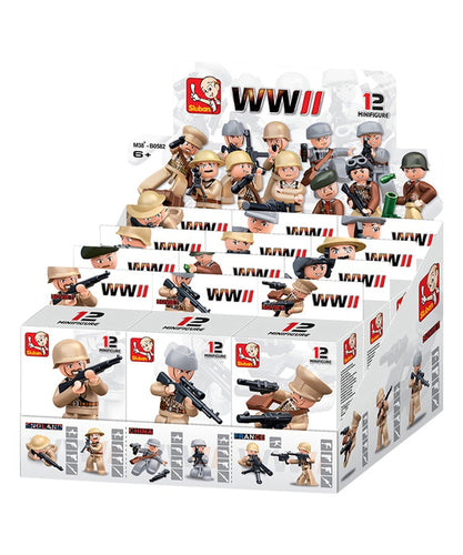 Army Man Mini Figures (Display Box Of 12)
