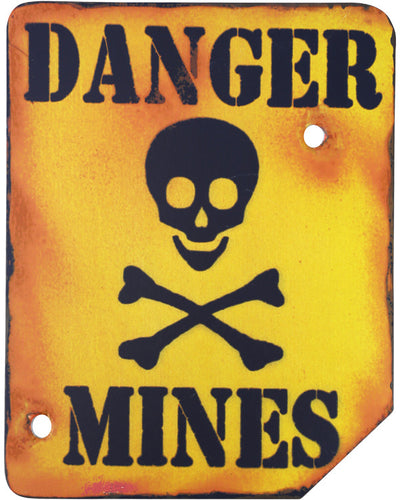 Danger Mines Wall Sign