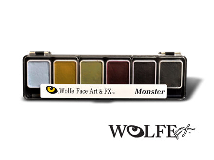 WolfeFX 6 color monster professional makeup kit