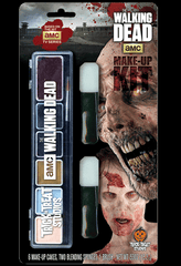 Want to look like a Walker for AMC's number one hit show The Walking Dead? Now you can with the officially licensed AMC The Walking Dead make-up kit! Features colors meticulously picked to match the color pallet used in the The Walking Dead tv shows.