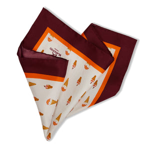 Gelato Motif Burgundy Pocket Square