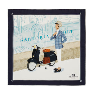 Fabrizio - Vespa Pocket Square