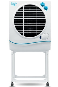 Symphony Jumbo Jr. 22-Litre Air Cooler with Trolley (White)-for Medium Room - industrypurchase.com