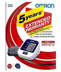 Omron Digital Arm Bp Monitor HEM-8712 with 5 year Warranty - industrypurchase.com