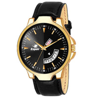 Sunday Sale Espoir Analogue Black Dial Day and Date Men's Boy's Watch - MixRikon0507