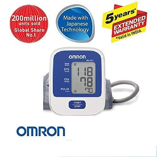 Omron Hem-8712 Blood Pressure Monitor With 5 Year Extended Warranty - industrypurchase.com