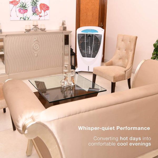 Symphony Winter 56-Litre Air Cooler (White)-for Large Room - industrypurchase.com