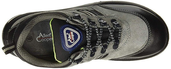 Allen Cooper AC-1156 Buff Suede Leather Black and Grey Steel Toe Safety Shoes