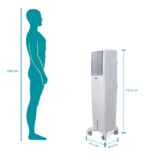 Symphony Diet 50i 50 Litre Air Cooler (White) - with Remote Control and i-Pure Technology - industrypurchase.com