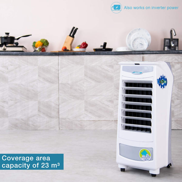 Symphony Silver-i 9 Litre Personal Air Cooler (White) - with Remote Control and i-Pure Technology - industrypurchase.com