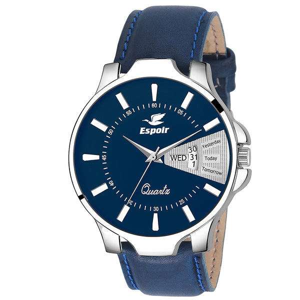 Sunday Sale Espoir Analogue Blue Dial Men's Watch- Roman0507