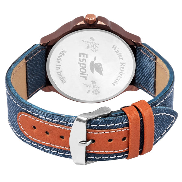 Sunday Sale Espoir Analogue Blue Dial Day and Date Men's Boy's Watch - AntiBlueMovado