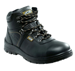 JCB Excavator Black Steel Toe Safety Shoes
