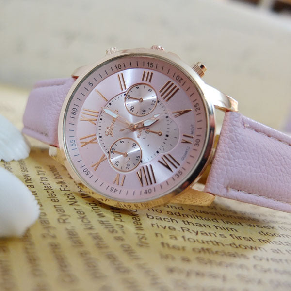 Sunday Sale Leather Analog Ladies Watches